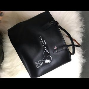 Coach NWT Snoopy Tote Bag